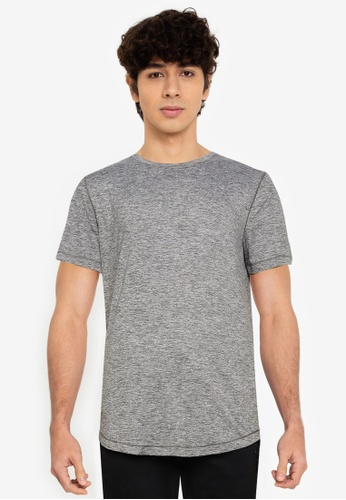 Abercrombie & Fitch grey Air Knit Crew T-Shirt FA629AAB4DF154GS_1