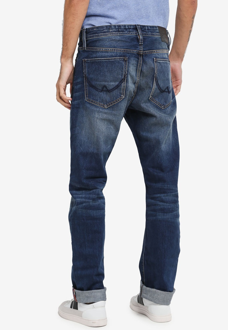 Monty Superdry Light Officer Jeans Blue nRqEWYAfA8