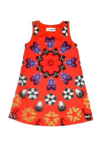 Desigual red Sleeveless Print Dress EC67BKA2C2431BGS_1