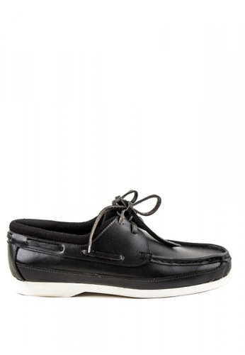 Otto black Lace up Boat Shoes 78867SH3FB7150GS_1