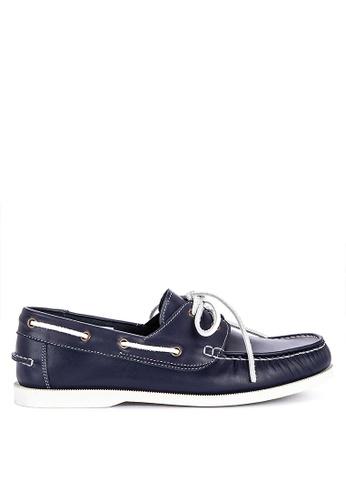 Brogue & Derby blue Didier Genuine Leather Boat Shoes 573FFSHCA55CDFGS_1
