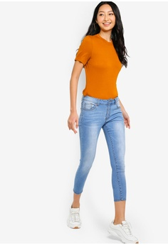 cc2db354 18% OFF Something Borrowed Cropped Washed Skinny Jeans HK$ 249.00 NOW HK$  203.90 Sizes XS S M L XL