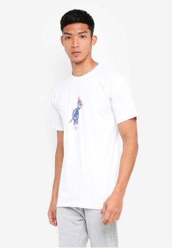 OBEY 白色 短袖印花T恤 CA773AAAE9C1D0GS_1