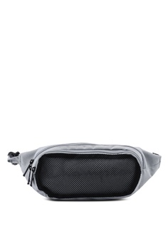 e6d0469c00c Champion grey Egene Zip-Top Front Mesh Waist Bag 57013AC93163B6GS 1