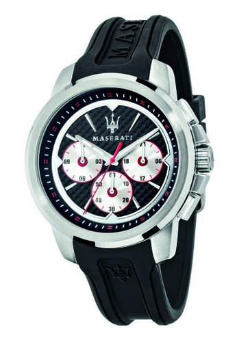 Maserati black Sfida Quartz Watch R8851123001 Black Silicon Strap 59F0CAC7C74217GS_1