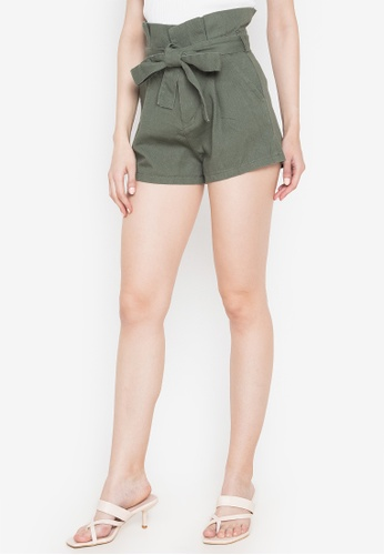 Spring Fling green Paper Bag Shorts C1DDFAA48EE7CFGS_1