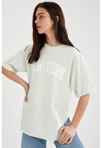 DeFacto green Woman Knitted Short Sleeve T-Shirt 5666DAA11AF935GS_1