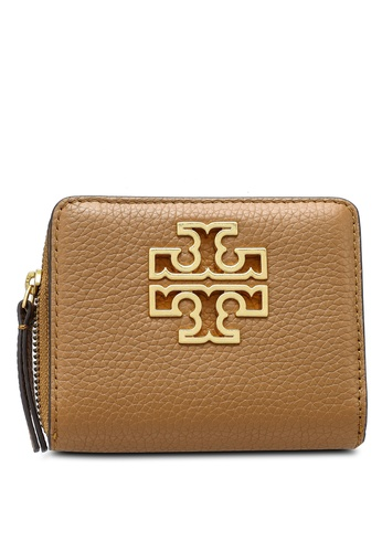 TORY BURCH brown Britten Mini Wallet (NT) 0EB04AC97754D4GS_1