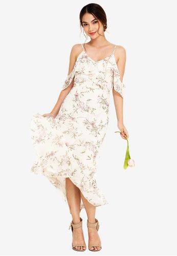 ZALORA OCCASION 多色 Bridesmaid Ruffle Detail Maxi Dress 813E8AAD13CCE8GS_1