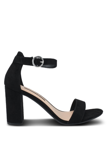 Dorothy Perkins black Black Shimmy Block Heel Sandals 68D04SH2218F73GS_1