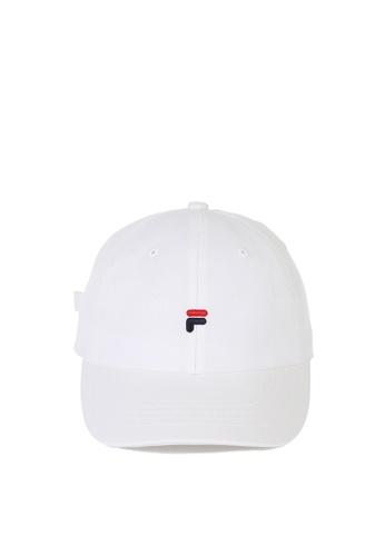 FILA white Korea Collection Unisex Embroidery F Logo Cap 6BDF0AC093D527GS_1