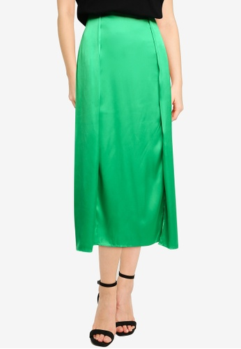 French Connection green Inu Satin Slip Skirt ABDD7AAF20358DGS_1