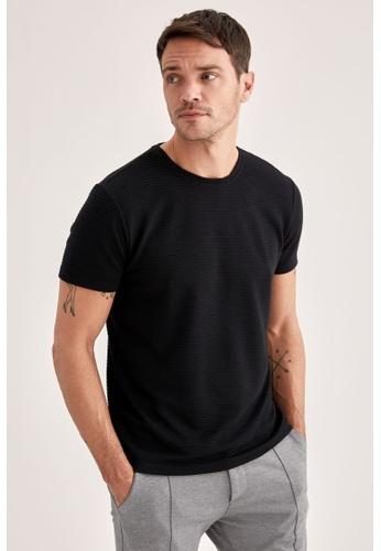 DeFacto black Short Sleeve Round Neck T-Shirt 34A53AA6A93E1BGS_1