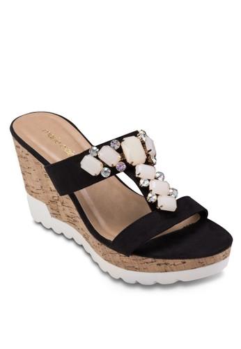 MAYSesprit鞋子I 閃飾楔型跟涼鞋, 女鞋, 楔形鞋
