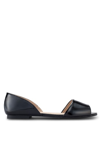 ZALORA black Peep Toe D'Orsay Flats 89F53SH472CE33GS_1