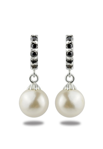 SC Tom Silver silver Pearl Clip Stone Dangling- TESLD007 SC872AC55NPWPH_1