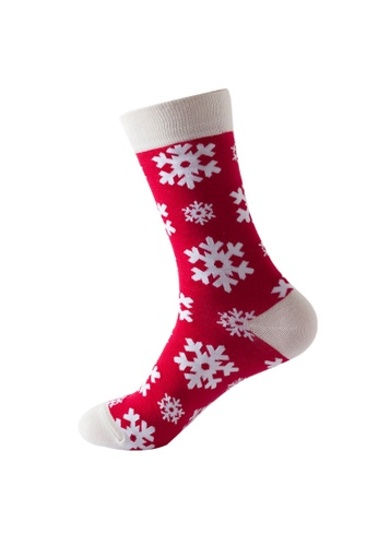 Kings Collection red Snow Pattern Pattern Cozy Socks (One Size) HS202331 5159CAA06C1515GS_1