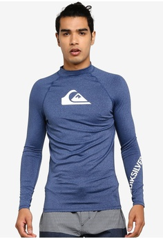 23d50991837e20 Quiksilver blue All Time Long Sleeve UPF 50 Rashguard 2ACDBUS3D6BCB9GS_1
