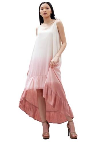 Heart Beads Bali pink and multi Ruffle Dress 657C1AAD00728BGS_1