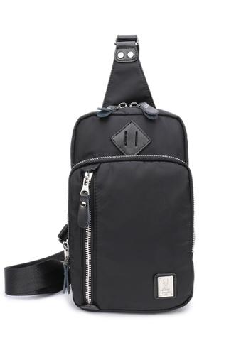 DUSTY black Broader Chest Bag E02F0AC016DD88GS_1