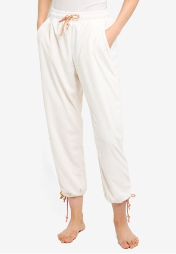 Cotton On Body white 7/8 Terry Lounge Pants 784F2AA1AE186FGS_1