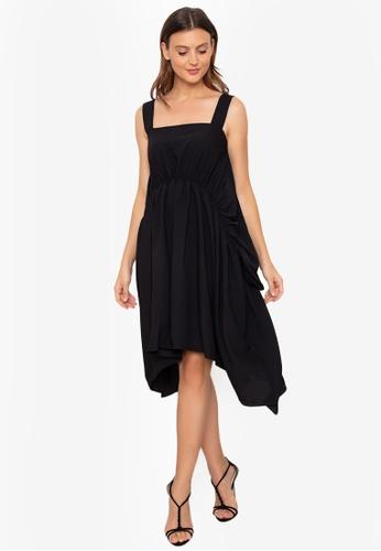 WEAVE black Ruched Dress 80EF1AA56C48C4GS_1