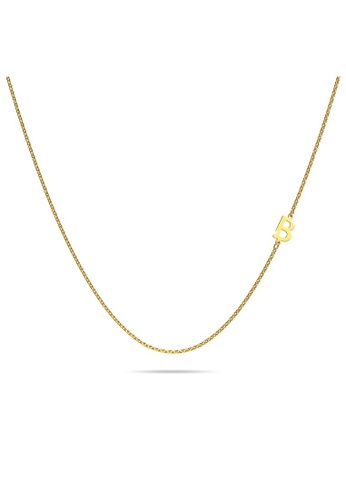 Bullion Gold gold BULLION GOLD Bold Alphabet Letter Initial Charm Necklace in Gold Tone - B EFF6DAC89B6A9FGS_1