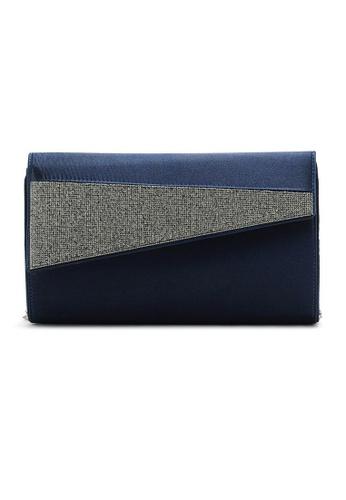 LULUGIFT blue Metal Chain Silk Dinner Clutch Sling Bag LU989AC56ATJMY_1