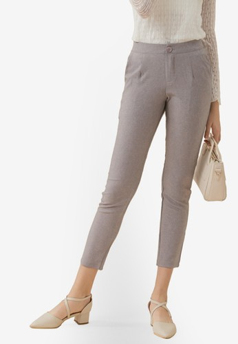 Eyescream grey Cropped Cigarette Pants F7930AA8A9B63CGS_1