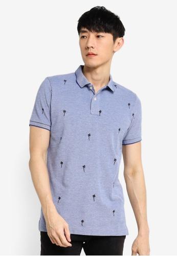Superdry 藍色 Classic Aoe Pique Short Sleeve Polo Shirt C09FDAAC105215GS_1