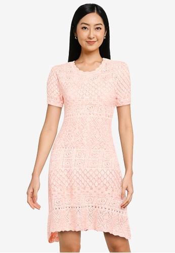 URBAN REVIVO pink Casual Dress 6F529AADD5CDE7GS_1
