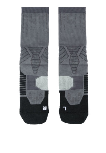 Under Armour grey Drive Basketball Crew Socks UN337AC0RUGPMY_1