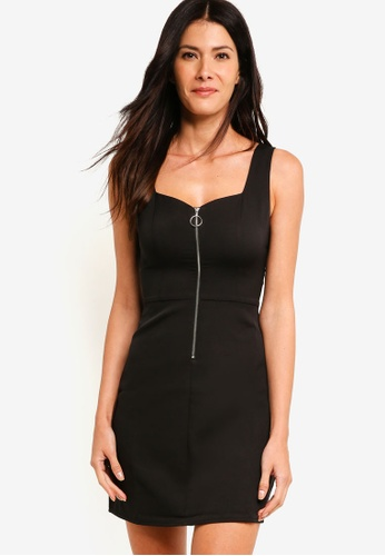 ZALORA black Zip Front Pinafore Dress 274A0AA8748BD3GS_1