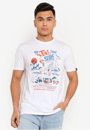 Springfield beige Creators Marques Short-Sleeved T-Shirt FC246AA6D01406GS_1