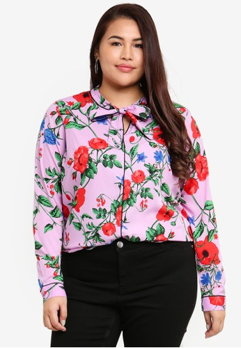 e845b4a1c7c Buy Junarose Plus Size Grace Long Sleeve Blouse Online on ZALORA Singapore