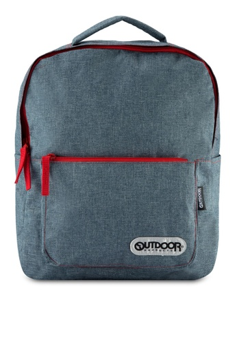 Outdoor Products red and navy Bell Square Daypack OU509AC34WGRMY_1