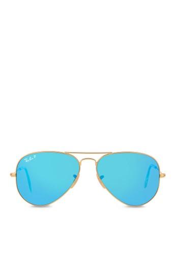 Aviator 反光鏡片太陽眼鏡系列, 飾esprit女裝品配件, 飛行員框