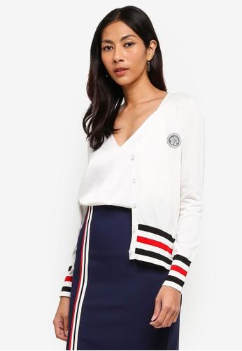 Hopeshow white Knitted Cardigan BA11CAA562B735GS_1