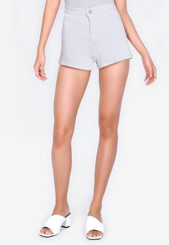 ZALORA BASICS white Denim Stretch Shorts 898FFAAACB9F0DGS_1