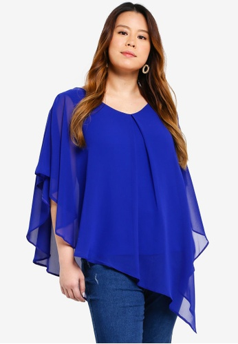 Dorothy Perkins blue Plus Size Cobalt Overlay Top 81595AADB5950FGS_1