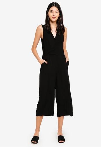 Cotton On black Woven Maya Twist Front Jumpsuit 8C4EBAA9DCE2C4GS_1