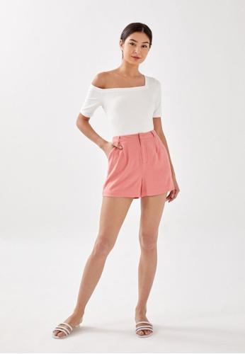 Love, Bonito pink Charli Linen Shorts A31E6AA339BAFBGS_1