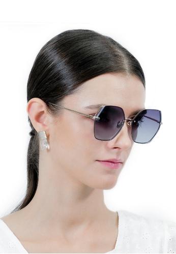 Jill Stuart gold JILL STUART Ellie JS10042 Angular Metal Sunglasses E3A11GLBB9A17CGS_1