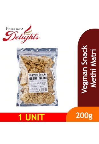 Prestigio Delights black Vegman Snacks Methi Matri 200g CF5CDES7EABF72GS_1