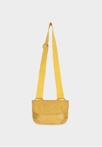 Pomelo yellow Foldover Cross Body Bag - Yellow 13ACAAC9D6D2CEGS_1