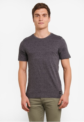 Only & Sons grey Akim Short Sleeve Top ON662AA0S5ORMY_1
