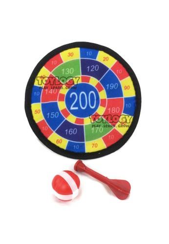 Toylogy multi Mainan Olahraga Anak Papan Dart Board Playset Panah Velcro Bola Game C3AE8THF5864B5GS_1