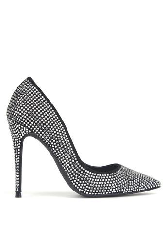Betts black Blossom 2 Diamante Stiletto Heels 31DE7SH5D0A640GS_1