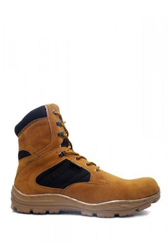 Cut Engineer brown Cut Engineer Zipper Taktical High Safety Boots Iron Tan C7CBBSHF672D8EGS_1