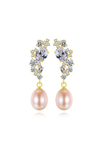 A.Excellence purple Premium Purple Pearl Elegant Earring 4D63BAC219375FGS_1